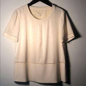 Rag & Bone Crepe and Silk Cream Shirt S